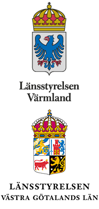Logotyper för Länsstyrelsen Värmland och länsstyrelsen Västra Götaland