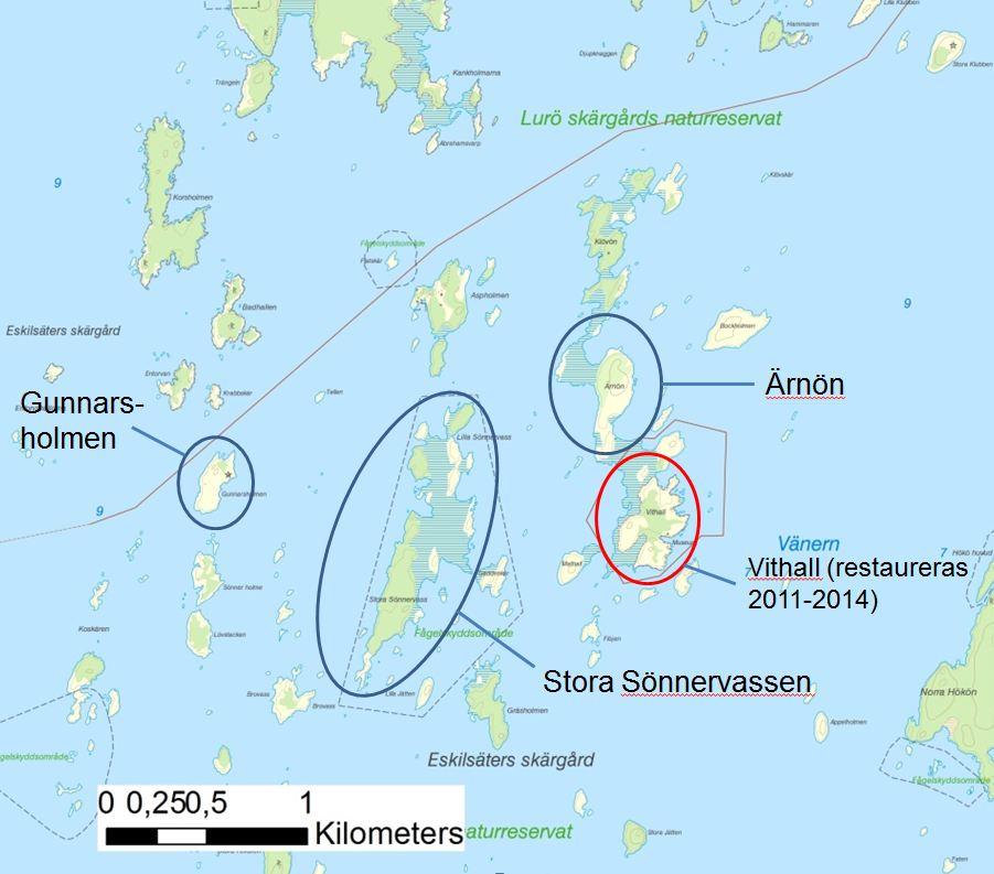 Karta - utsnitt av Lurö skärgård