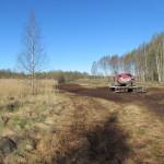 Fräsning av tuvor och stubbar vid Djupsundsviken