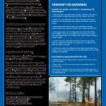 Informationsskylt om naturvårdsbränning i skog.