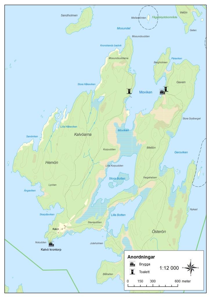 Karta över de nya friluftsanläggningarna